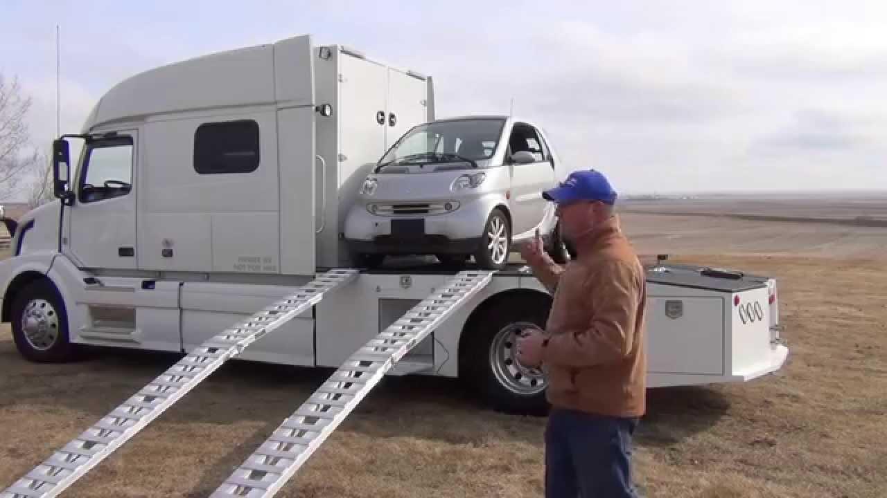 Semi With Big Sleeper Orange Truck Shane Mollers 2003