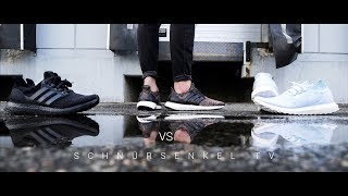 b41647536 adidas ULTRA BOOST 3.0 triple black VS PARLEY uncaged VS UB multicolor 3.0  unboxing review on