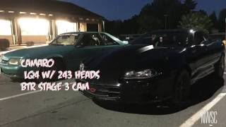 turbo mustang vs hci camaro on the streets