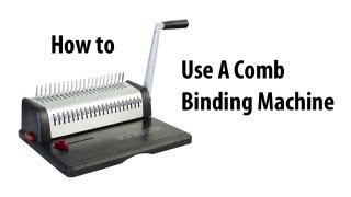 How to Comb Bind