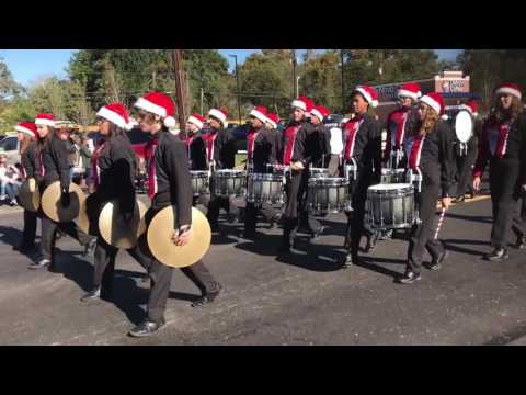 Tomball High School Band 2016 - Tomball Holiday Parade - Drum Cadence