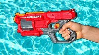 NERF GUN VS GIANT POOL!!
