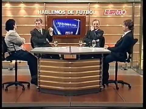 Hablemos de futbol con Batistuta y Maradona.