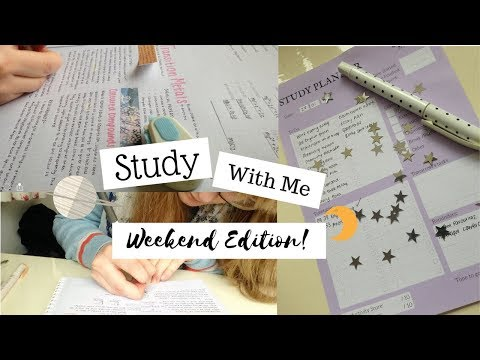 Study With Me || Productive Weekend Edition (Study Motivation)