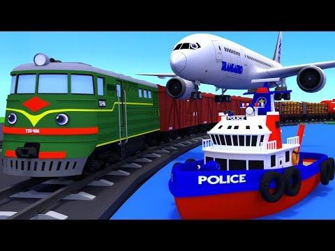 Сборник. Все серии познавательных мультиков про грузовик Тему и транспорт. Изучаем виды транспорта.
