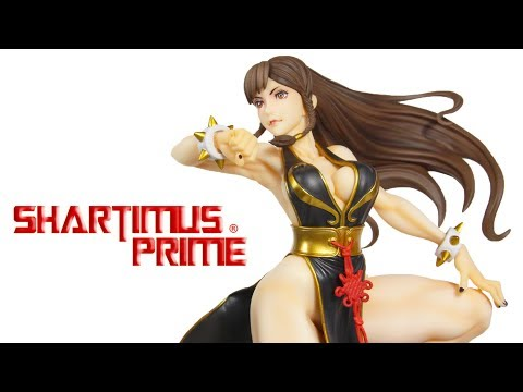 Chun Li Battle Costume Bishoujo Kotobukiya Street Fighter 5 Video Game Statue Review