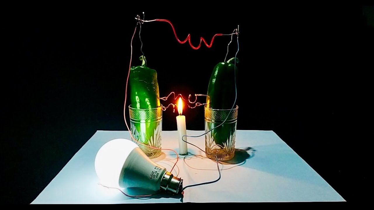 Hot pepper gives us a very large electrical energy scientific experiment l SIMPLE INVENTIONS
