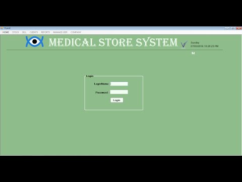 medical store management system in c#