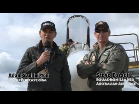 Avalon Airshow : Brief chat with Steve Fosset, FA18 Instructor