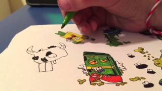 How to draw cruddy cow skull-trash pack