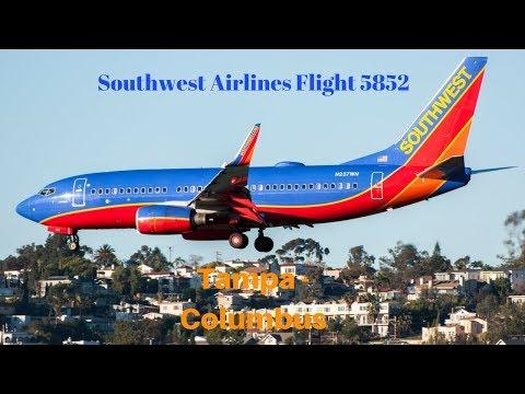 Southwest Airlines Full Flight: Tampa - Columbus