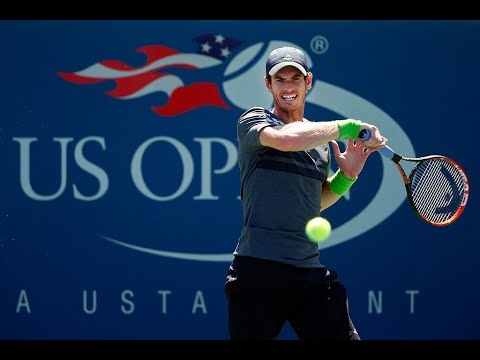 2017 US Open: Murray circles for a powerful forehand winner