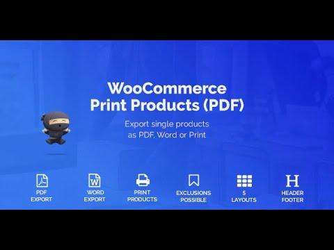 WooCommerce Print Products (PDF) Plugin