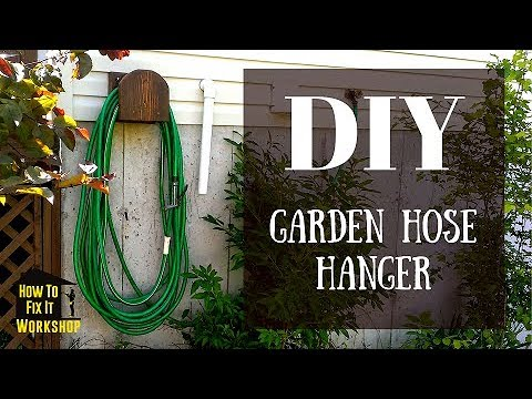 Garden Hose Hanger From Scrap Wood Youtube