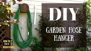Garden Hose Hanger from Scrap Wood