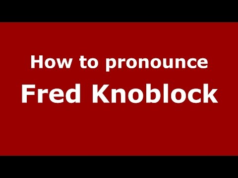 How to pronounce Fred Knoblock (American English/US) - PronounceNames.com
