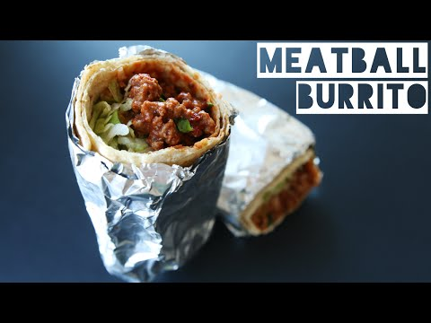 How To Make Healthy Meatball Burrito | Low Calorie Low Carb Meatball Burrito Recipe