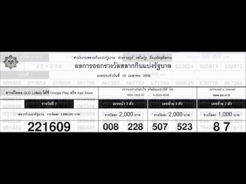 ใบตรวจหวย 16/04/59 ผลสลากกินแบ่ง 16เมษายน2559