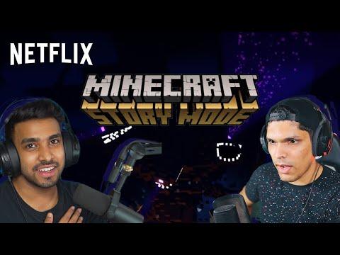 Download Minecraft Story Mode ft. @Mythpat & @Techno Gamerz   Netflix India