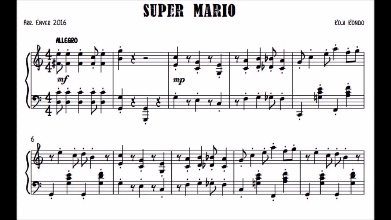Super Mario Bros (Scroll Sheet Music)