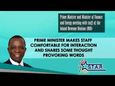 Prime Minister Keith Mitchell tours Ministry of Finance -- Inland Revenue Division (part 2)