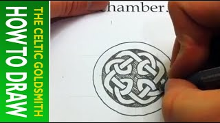 How To Draw Celtic Knots 22 - Celtic Cross Knot 3/3 From The Book Of Kells