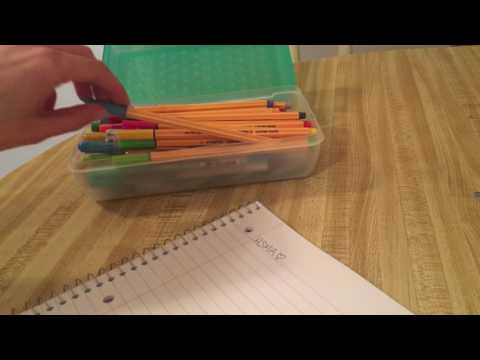 *ASMR Gel Pens & Notebooks! [Soft Spoken, Paper Sounds, Writing Sounds]*