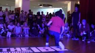 IBE 2013 Day 3 || BGirl Battle Semi-Final || TheNotoriousIBE x MrOfColors ||
