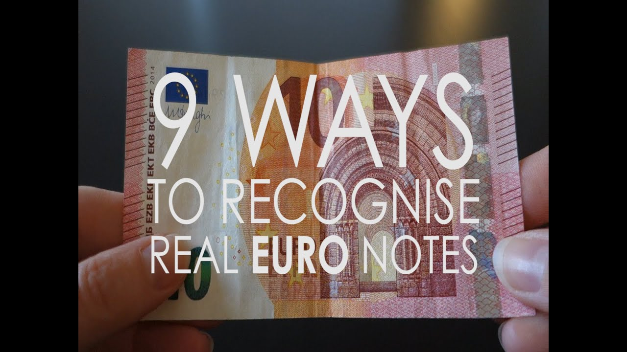 9 ways to spot a real euro note youtube for Eminflex singolo a 79 euro