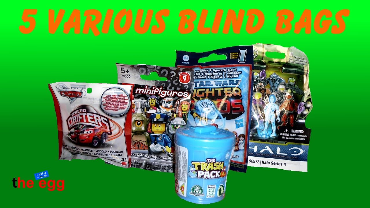 5 Blind Bags The Trash Pack Micro Drifters Lego Star
