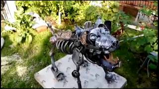 Как сделать собаку из металла.Recycle art metal dog.