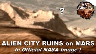ALIEN CITY RUINS ON MARS - In Official NASA Image. ArtAlienTV (Part 1)