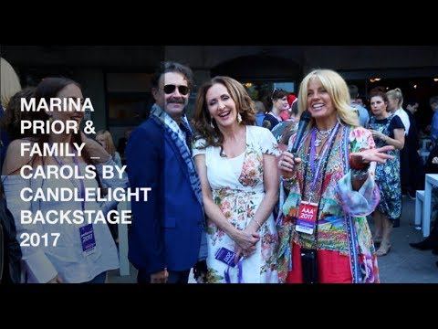 MARINA PRIOR & FAMILY   CAROLS BY CANDLELIGHT BACKSTAGE 2017