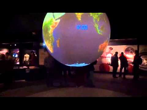 Globe at Space exploration exhibition