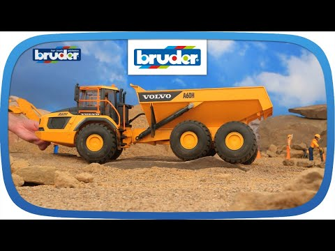volvo a60h dumper 02455 bruder spielwaren youtube. Black Bedroom Furniture Sets. Home Design Ideas
