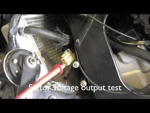HOW TO CHECK YOUR CHARGING SYSTEM and CHANGING the STATOR and REGULATORRECTIFIER  YouTube