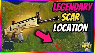 LEGENDARY SCAR LOCATION in FORTNITE? HOW TO GET THE BEST LOOT EVERY TIME in FORTNITE BATTLE ROYALE!