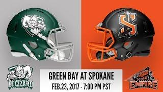 Green Bay Blizzard at Spokane Empire