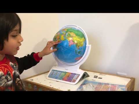 Interactive Smart Globe : FUN & Review with Wireless Smart Pen by Oregon Scientific