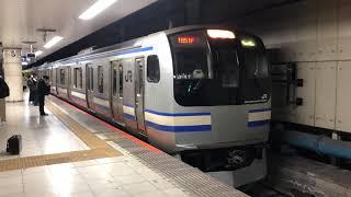 E217系クラY-41編成+クラY-138編成東京発車