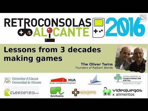 Lessons from 3 decades making games - The Oliver Twins [ Retroconsolas Alicante #RCA2016 ]