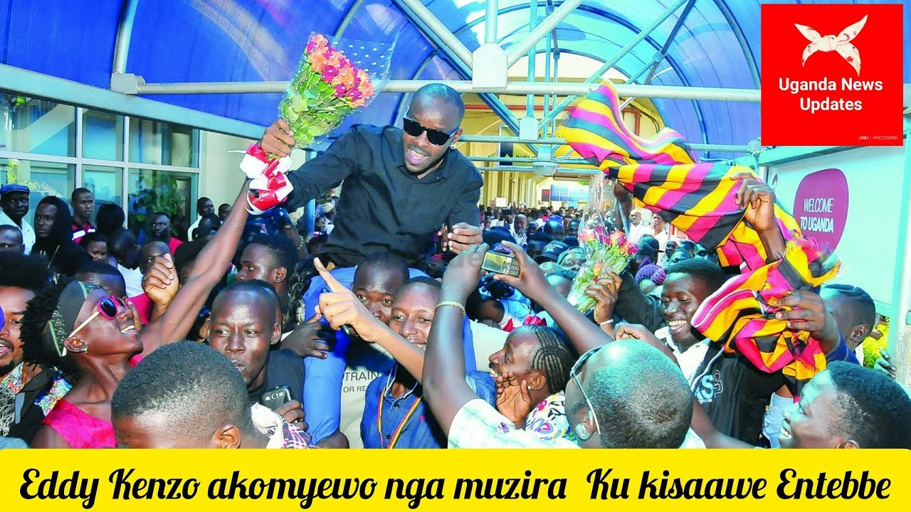Eddy Kenzo welcomed in Uganda like a hero at Entebbe Airport