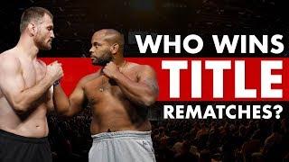 Who Wins UFC Title Rematches? - UFC 241: Cormier vs Miocic II
