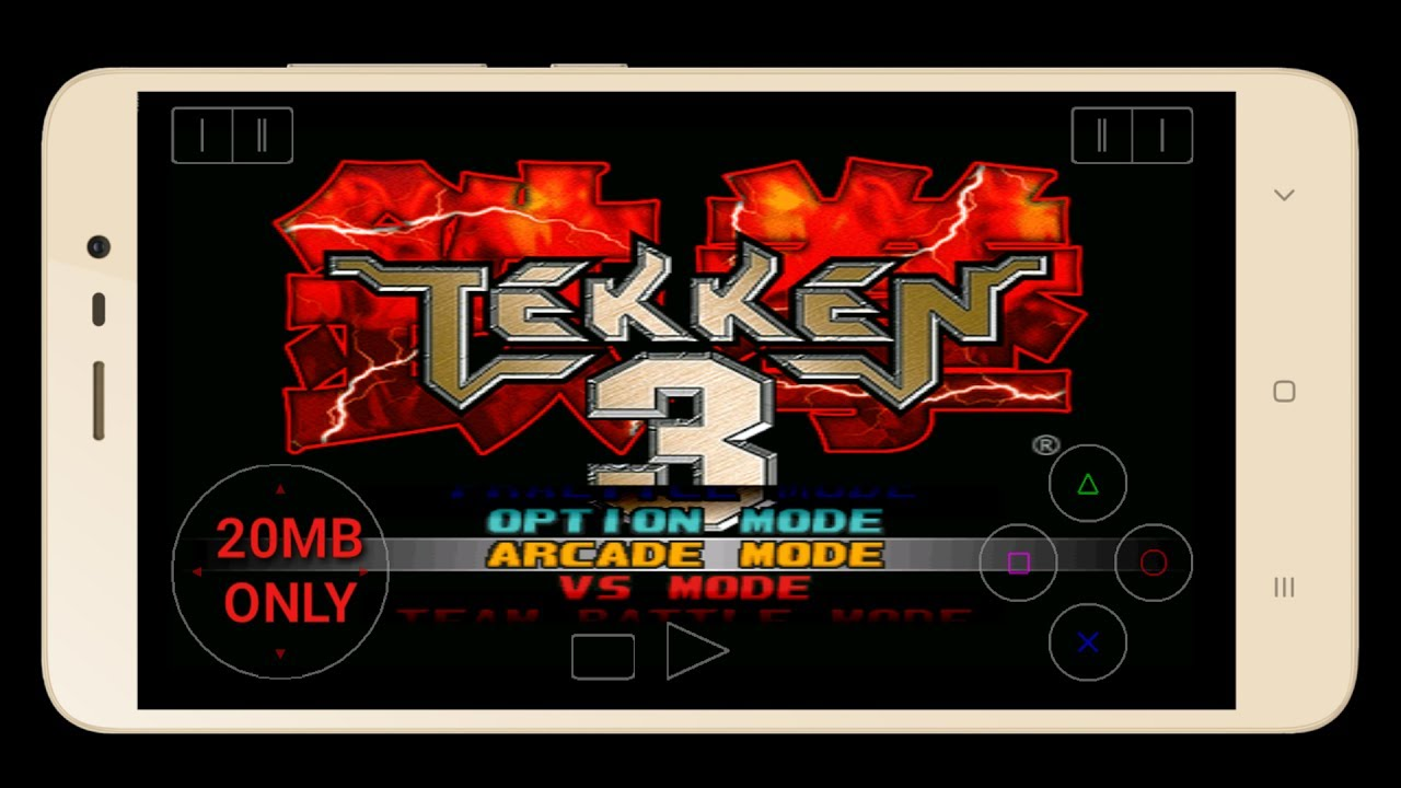 How to download tekken 3 game in android only 20mb with cheat.