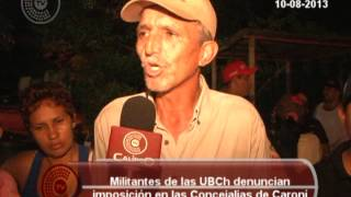 UBCh del Municipio Caroní denuncian irregularidades en incripciones a Concejales