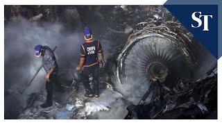 Pia Plane Carrying 99 Crashes In Karachi