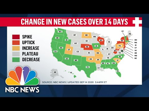 Covid-19 Cases On The Rise In 11 States | NBC News NOW