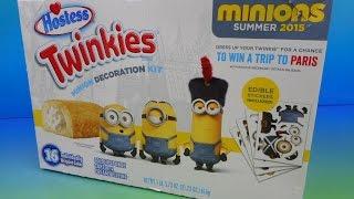 2015 HOSTESS TWINKIES MINION DECORATION KIT VIDEO REVIEW.....Yes I ate a Minion