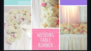 Roses Table Runner, headtable wedding centrepiece, bridal table decorative garland
