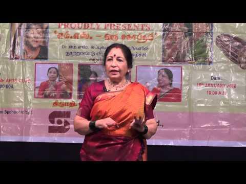 Revathy Sankaran  l Humour Club  l Speech about M.S.Subbulakshmi l Monthly Meeting 2016
